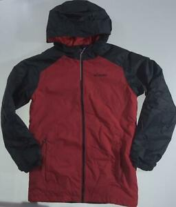 Columbia Boys Snowpocalyptic Jacket size XL (18/10) Mountain Red/Black Hooded