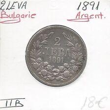 BULGARIE - 2 LEVA - 1891 - Pièce de Monnaie en Argent // Qualité: TTB