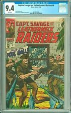 CAPTAIN SAVAGE AND HIS LEATHERNECK RAIDERS 8 CGC 9.4 WP SILVER Age MARVEL 1969