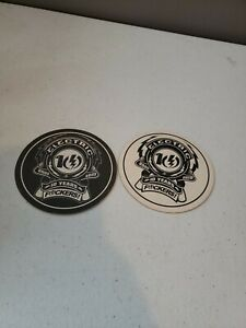 Lot of 2 Vintage 2010 ELCETRIC Company Beer Coasters Rare