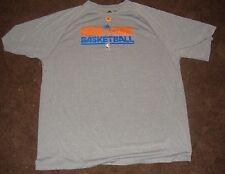 NBA Knicks Adidas Grey Climalite Short Sleeve T Shirt L