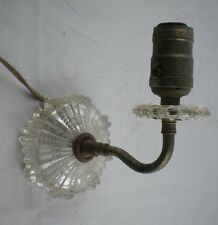 Vintage Clear Crystal Glass Wall Light Sconce Lamp