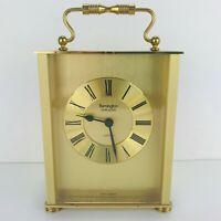 Remington Mantle Clock Multi Quartz Carriage Handle Home Decor West Germany Vtg