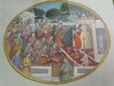 *THE FINEST* MINIATURE PAINTING by MIRZA MOHAMMED ALI BAIG, AKBAR with JODABAI