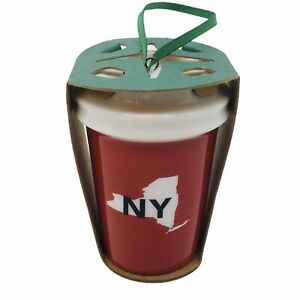 Starbucks NY Ornament New York State Mermaid Christmas Tree Red White To Go Cup