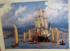 "RAMOND MASSEY ""HMS BOUNTYI"" ENTERING MATAVAI BAY, TAHITI, 1788 COA  1995"
