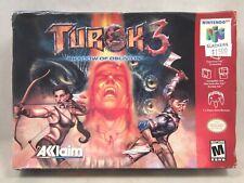 Turok 3 Shadow of Oblivion (Nintendo 64   N64) Authentic BOX ONLY