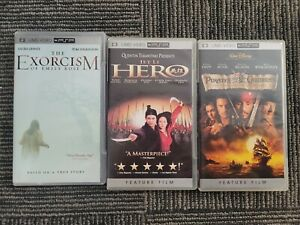 Pirates of the Caribbean, Exorcism, Hero PSP Video Movies lot of 3
