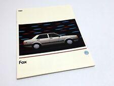 1989 Volkswagen Fox Brochure