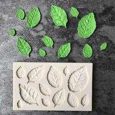 Rose Leaves Lovely Silicone Fondant Mould Cake Decor Sugar Chocolate Mold DIY