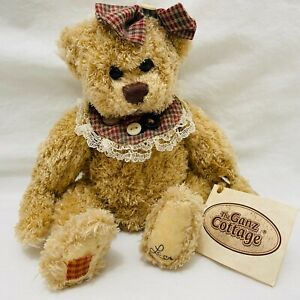 """Ganz Cottage Collectibles jointed Bear """"Cupcake"""" signed Lorraine Chien 8"""" COA"""