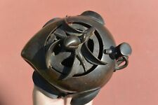 19th Century Chinese Bronze Peach Shaped Censer Incense Burner