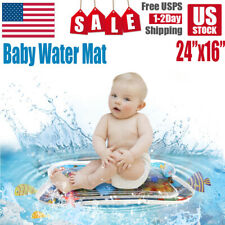 Inflatable Baby Water Mat Novelty Play for Kids Children Infants Tummy Time Usa