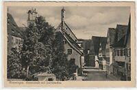Ansichtskarte Memmingen - Herrenstraße mit Senitürmchen um 1910 - schwarz/weiß