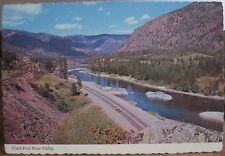 Montana Postcard CLARK FORK RIVER Valley Alberton Bob Anderson Deckled Edge 4x6