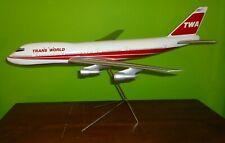 "TWA Airlines 1970's Travel Agency Model - 747  -  28"" long 25"" wingspan - 1:100?"