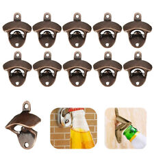 10PCS Wall Mounted Bottle Opener Wine Beer Bottle Cap Catcher Bar Kitchen Tool