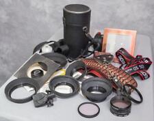 New listing Vintage Lot of Camera Cases Hoods Filters Straps etc. (g25)