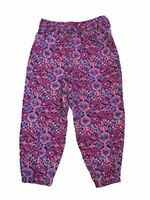 OshKosh Genuine Kids Girls Lightweight Purple Abstract Polyester Pants (4T)