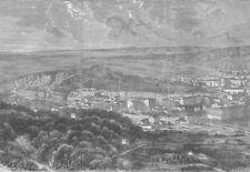 FRANCE. Nice, antique print, 1860