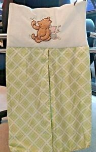 Classic Winnie The Pooh and Piglet Diaper Stacker Nursery Organizer Green