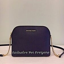 NWT Michael Kors Cindy Large Dome Crossbody Leather Admiral/Navy $168