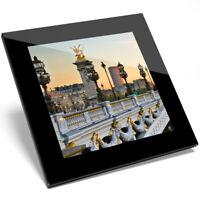 1 x Paris France Alexander III Bridge Glass Coaster - Kitchen Student Gift #8912
