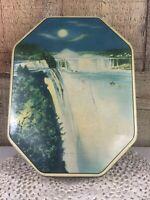 Vintage Boy Blue Rum Butter Toffee Tin Niagara Falls Horner Tin Made in England