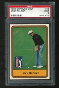 1981 Donruss Golf Jack Renner PSA 9