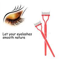 Eyelash Eye Lash Metal Tooth Comb Mascara Brush Cosmetic Lash Comb Brush