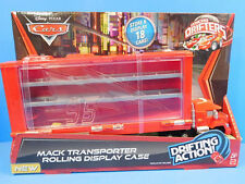Disney Cars Micro Drifters Mack Transporter Rolling Display Case New Holds 18