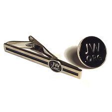 "JW.org 2 1/4"" Black Tie Clip For Necktie With 3/4"" Lapel Pin Tie Bar Watchtower"
