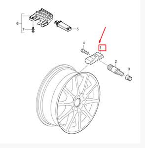 PORSCHE 718 CAYMAN 982 Tire Pressure Sensor 9A790727502 NEW GENUINE
