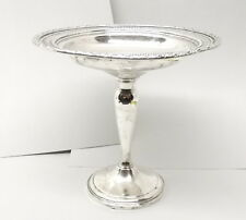 Vtg Sterling Silver Whiting Footed Compote Bowl Dish Talisman Rose Candy 193