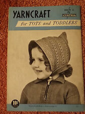 Vtg 1950s TOTS & TODDLERS CLOTHING Knitting & Crochet Patterns Books Boys Girls