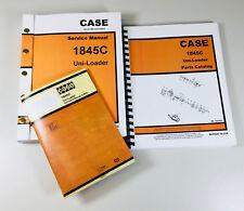 Case 1845c Uni Loader Skid Steer Service Parts Operators Manual Repair Shop Book
