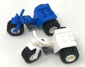 Lego 30187 Trike Tricycle ATV motorcycle  One White  One Blue