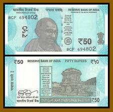India 50 Rupees, 2018 P-111 New Design Gandhi Unc