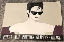 "1983 Patrick Nagel ""Sunglasses"" (black) Print - Mirage Editions - Fair condition"