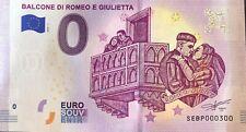 BILLET 0 EURO BALCONE DI ROMEO E GIULIETTA ITALIE 2019 NUMERO 300