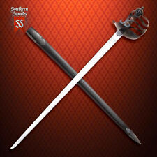 Windlass Mortuary / English Half Basket-Hilt Sword with High Carbon Steel Blade
