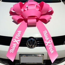 Set of Two Giant Pink Car Bows Gift Magnetic base FREE SHIPPING