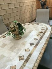 Patio Furniture Marble Stone top and 6 chairs