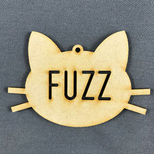 MDF Christmas Tree Decoration BAUBLE PET CAT FACE PERSONALISED with NAME