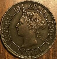 1884 CANADA LARGE CENT PENNY 1 CENT