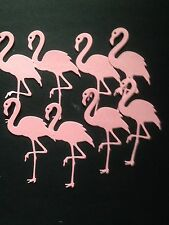 8 Pink Flamingo die cuts  - great for scrapbooking/cardmaking