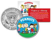 "Peanuts Charlie Brown ""Original Gang"" JFK Half Dollar U.S. Coin *Licensed*"