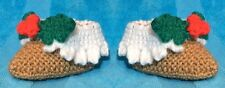 KNITTING PATTERN - Christmas Pudding Booties / shoes  fit 0 - 3 month old Baby