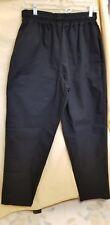 Chef Designer Medium Black Unisex Pants W/Draw String & Pockets*New*