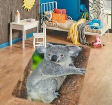 3D Australia Koala I582 Animal Non Slip Rug Mat Round Elegant Carpet Honey